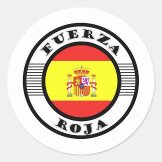 ROJA.jpg FORCE Round Sticker