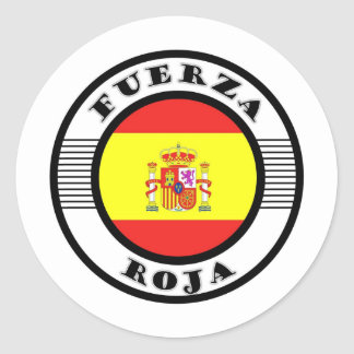 ROJA.jpg FORCE Round Sticker