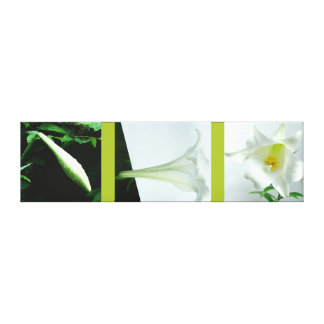 RokCloneDesigns Easter Lily Triptych Premium Wrap Canvas Print