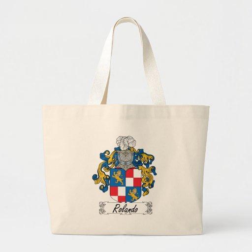 Rolando Family Crest Canvas Bag