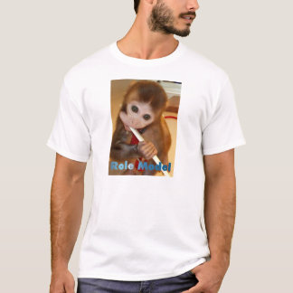 Role Model (Monkey Brushing Teeth) T-Shirt