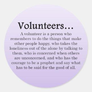 Role of Volunteers Round Sticker