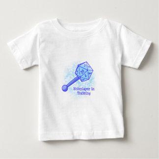Roleplayer dans le bleu s'exerçant t-shirt pour bébé