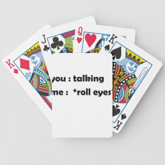 roll eyes bicycle playing cards