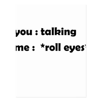 roll eyes postcard