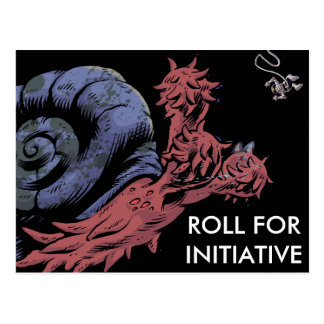 ROLL FOR INITIATIVE Postcard