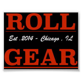 Roll Gear LOGO Poster