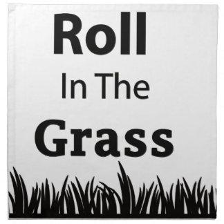 Roll In The Grass funny design Napkin