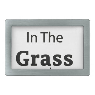 Roll In The Grass funny design Rectangular Belt Buckle