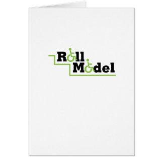 Roll Model Disability Awareness Gift Wheelchair Card