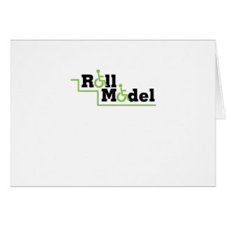 Roll Model Disability Awareness Gift Wheelchair Card