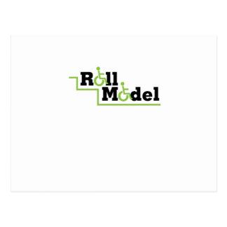 Roll Model Disability Awareness Gift Wheelchair Postcard