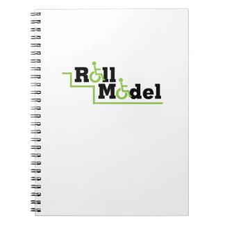 Roll Model Disability Awareness Gift Wheelchair Spiral Notebook