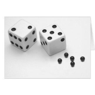 Roll of the Dice Greeting Cards