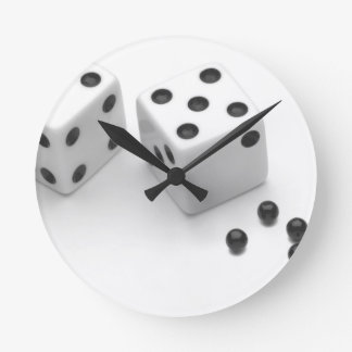Roll of the Dice Round Clocks