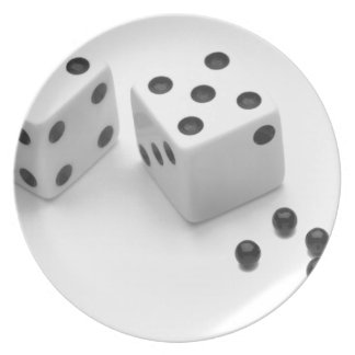 Roll of the Dice Party Plates