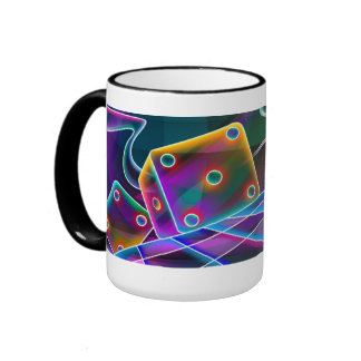 Roll of the dice! ringer coffee mug