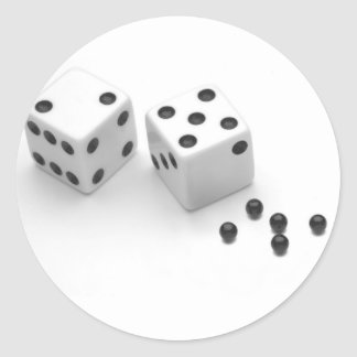 Roll of the Dice Round Stickers