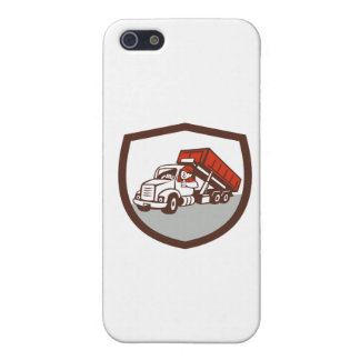 Roll-Off Bin Truck Driver Thumbs Up Shield Cartoon Case For The iPhone 5