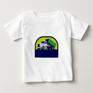 Roll-Off Truck Side Up Half Circle Retro Baby T-Shirt