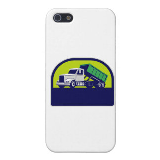 Roll-Off Truck Side Up Half Circle Retro Case For iPhone 5/5S
