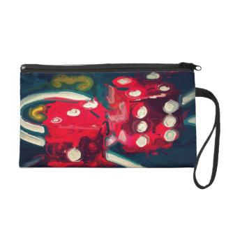 roll the dice wristlet purse