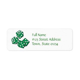 Roll the Dice Mailing Labels
