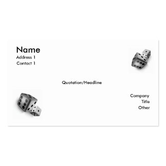 Roll the Dice Pack Of Standard Business Cards