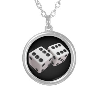 Roll the Dice! Round Pendant Necklace