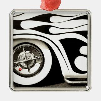 roll the Dice Silver-Colored Square Ornament