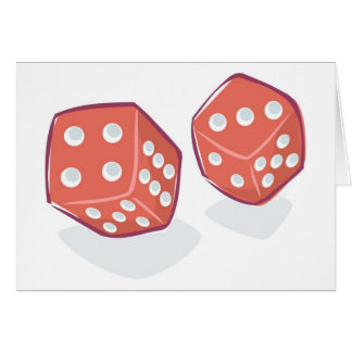 Roll the Red Dice Greeting Card