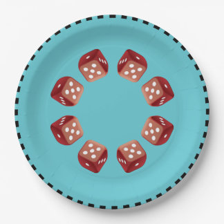 Roll The Red Dice Paper Plate