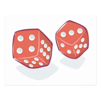 Roll the Red Dice Postcard