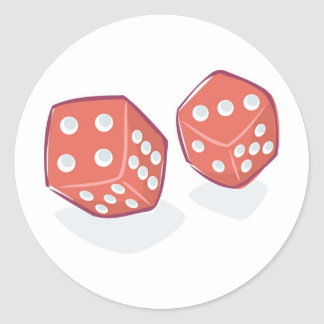 Roll the Red Dice Round Sticker