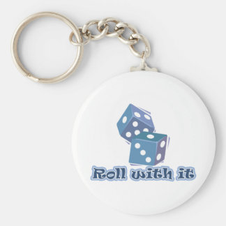 Roll with it - Dice Games Key Chains