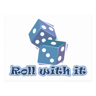 Roll with it - Dice Games Postcard