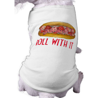 ROLL WITH IT Maine Lobster Sandwich Foodie Dog Tee