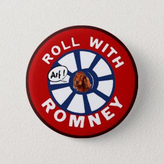 Roll with Mitt Romney 2 Inch Round Button