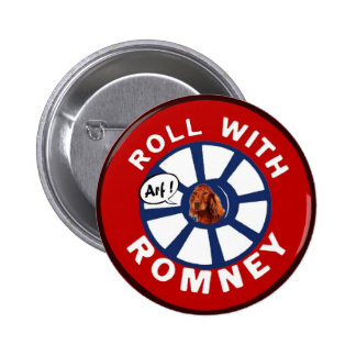 Roll with Mitt Romney 2 Inch Round Button