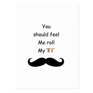 Roll your Stache Postcard