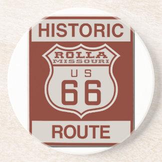 Rolla Route 66 Beverage Coaster