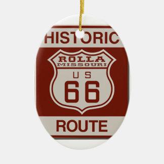 Rolla Route 66 Ceramic Ornament