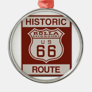 Rolla Route 66 Metal Ornament