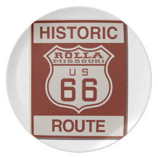Rolla Route 66 Plate