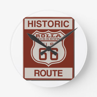 Rolla Route 66 Round Clock
