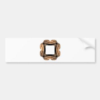 Rolled Brass Look Fractal Art Frame Bumper Stickers