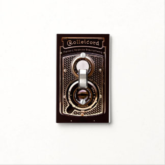 Rolleicord art deco camera light switch cover