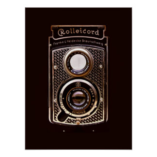 Rolleicord art deco camera poster