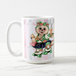 ROLLER CAT CARTOON CUTE Classic Mug