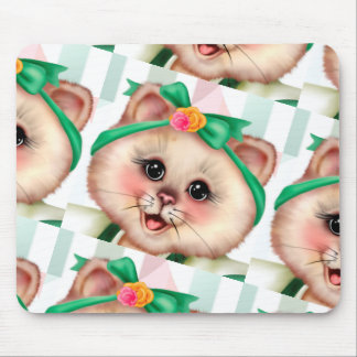 ROLLER CAT CARTOON CUTE MOUSE PAD